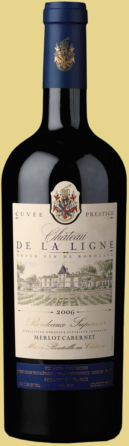 Bottle of 2006 Merlot-Cabernet from Château de la Ligne